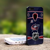 Columbus Blue Jackets NHL Jersey - For iPhone 5 Black Case Cover