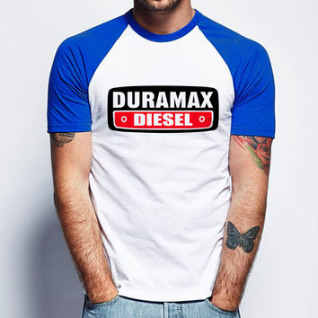 Duramax Diesel 623 Short Sleeve Raglan- White Red - White Blue - White Black