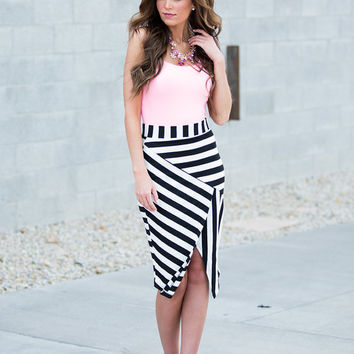 High Expectations Pencil Skirt Striped