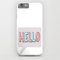 Hello iPhone & iPod Case by ALLY COXON
