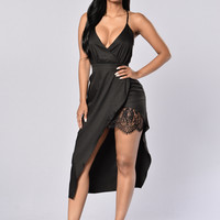 Sweet Romance Dress - Black