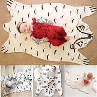 Fashion baby Blanket Game Mat, Bear Blanket Baby Tiger Blanket Animal Carpet ,Warm Bear Play Mats Autumn Winter
