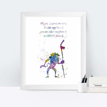 Lion King Rafiki, Rafiki quote, The Lion King, Rafiki inspired, Lion King Poster, Simba, Children's Room, Watercolor Print, Wall Art