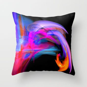abstract feathers Throw Pillow by Haroulita