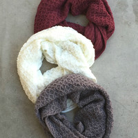 Cozy Valley Knit Infinity Scarf