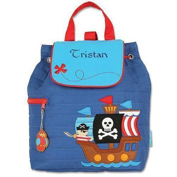 Personalized Quilted Toddler Backpack - Pirate (Pack of 1)