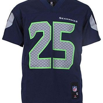 Richard Sherman Seattle Seahawks Navy Blue Nfl Youth 2015 16 Season Mid Tier Jersey