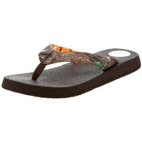 Sanuk Women`s Yoga Mat Mossy Oak Flip-Flop,Duck Blind,8 M US