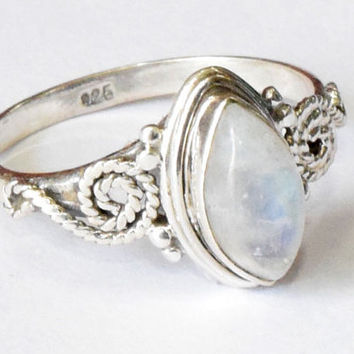 Moonstone ring, 925 Sterling Silver, Sterling Ring, Silver Ring