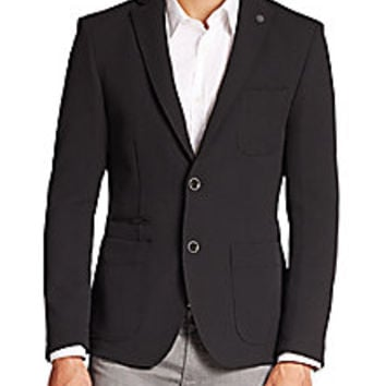 Hugo Boss - BOSS Nackston Techno Blazer - Saks Fifth Avenue Mobile