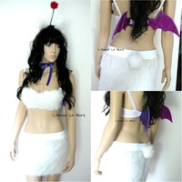 Final Fantasy Moogle Cosplay Dance Costume Rave Halloween