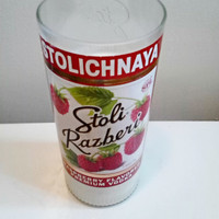 Stoli Raspberry Recycled Bottle 100% Natural Soy Candle