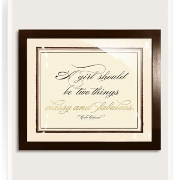 18k Gold Classy And Fabulous Words Of Wisdom Artwork