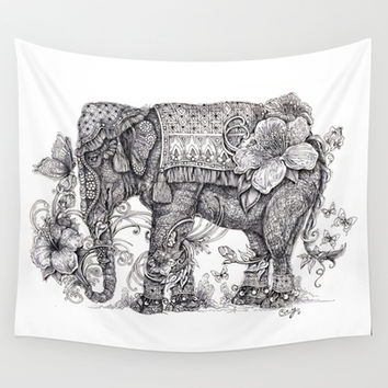 """Anesh the Creative Elephant"" Wall Tapestry by Cindy Lysonski (Cicy)"
