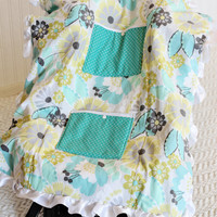 Carseat Cooler for Infants, Baby, and Toddler, Green, Yellow, Blue, Ruffle, Floral