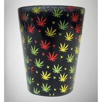 Black Allover Leaf Shot Glass