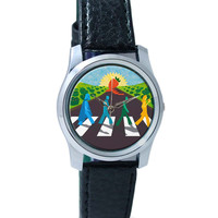 Strawberry Fields Forever | Beatles Inspired Fan Art Wrist Watch