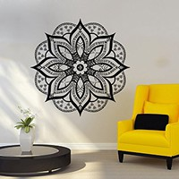 Wall Decal Mandala Vinyl Sticker Decals Lotus Flower Yoga Namaste Indian Ornament Moroccan Patern Om Home Decor Art Bedroom Design Interior C67