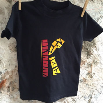 Personalized kids t-shirt letter K
