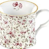 Katie Alice Ditsy White Floral Bone China Shabby Chic Mug