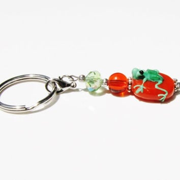 Cute Frog Keychain Keyfob Under 10 New 1st Time Driver Backpack Purse Planner Zipper Pull Charm Gift For Her Mom loUiSiAnaCre8ions