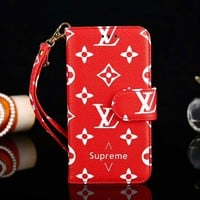 Louis Vuitton LV x Supreme Newest Fashion Print iPhone Phone Cover Case For iphone 6 6s 6plus 6s-plus 7 7plus iPhone X XR XS XS MAX