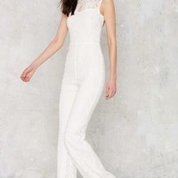 Adriana Lace Jumpsuit - White