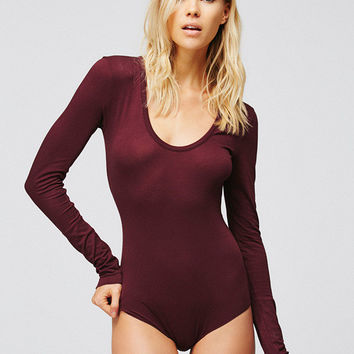 Red Wine Long Sleeve Bodysuit