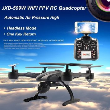 Men's Gift RC Plane  6-Axis Gyro Wifi FPV RC Quadcopter with 0.3MP Camera High Hold CF Mode One Key Return Drone MobilePhone Con