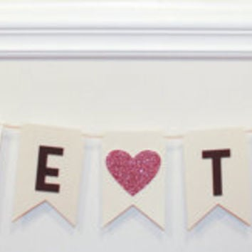 Bride to be banner, bridal shower, newly engaged
