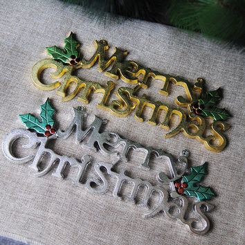 Blueness Merry Christmas Letter Decoration For Tree Merry Christmas ML1048