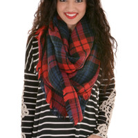 Stay For A While Scarf - Navy