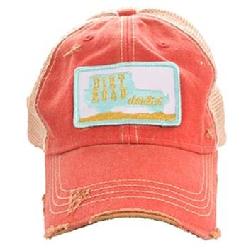 Judith March Dirt Road Darling Mint and Red Trucker Hat