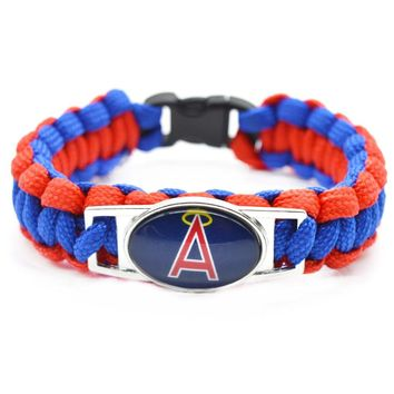 2017 Fashion Baseball Bracelet MLB Los Angeles Angels of Anaheim Charm Braided Bracelet for Women Men Bracelet Wide Bangle Gifts