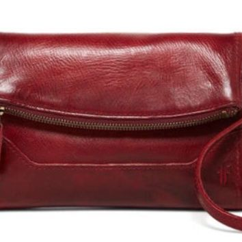 Frye Melissa Leather Foldover Crossbody