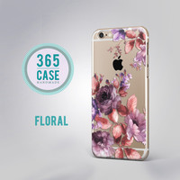 iPhone 6 Case Clear Floral iPhone 6S Case Clear Purple iPhone 6 Plus Case Clear iPhone 6S Plus Case Clear iPhone 6 Case Transparent c00037