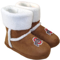 Ohio State Buckeyes Ladies Chestnut Booties - Khaki