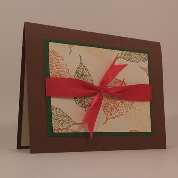 Thanksgiving Cards, Hand Made Cards, Fall Cards, Pack of Cards