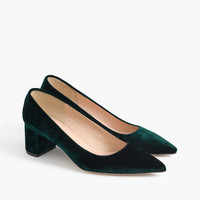 Avery velvet pumps