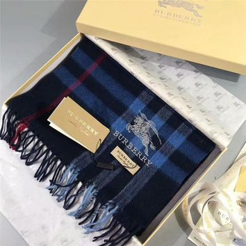 Luxury Burberry Keep Warm Scarf Embroidery Scarves Winter Wool Shawl - Multicolor 4