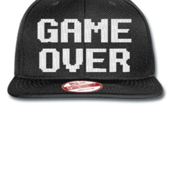 game over embroidery hat - New Era Flat Bill Snapback Cap
