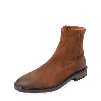 McCarren & Sons Men's Roper-Toe Inside Zip Boot - Brown - Size 10