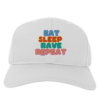 Eat Sleep Rave Repeat Hypnotic Adult Baseball Cap Hat by TooLoud