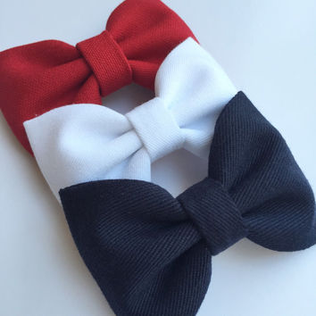 Fourth of July hair bows.  4th of July Seaside Sparrow hair bow set. bows hair bow Hair bows for teens Hair bows for girls bows accessory.