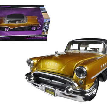 "1955 Buick Century Gold-Black ""Outlaws"" 1-26 Diecast Model Car by Maisto"