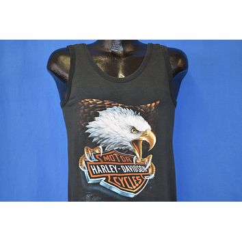 80s Harley Davidson 3D Emblem Bald Eagle Tank Top t-shirt Medium