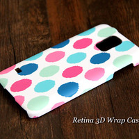Color Dots 3D-Wrap Samsung Galaxy S5 Case Galaxy S4 Case Galaxy S3 Case Galaxy Note 3 and Note 2 Case