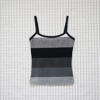 90's Crop Top, Black and White Stripe Crop Top,  Clueless,  Minimalist, Aesthetic, Tumblr, Soft Grunge, S