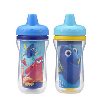 The First Years Disney Pixar Finding Dory 2 Pack 9 Ounce Insulated Sippy Cup