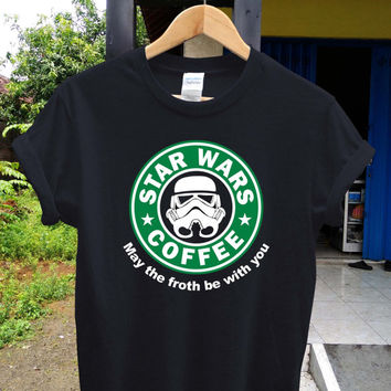 Star wars coffee t shirt Starbucks shirt , game shirt, potograph printed style shirt, digital shirt unisex adult